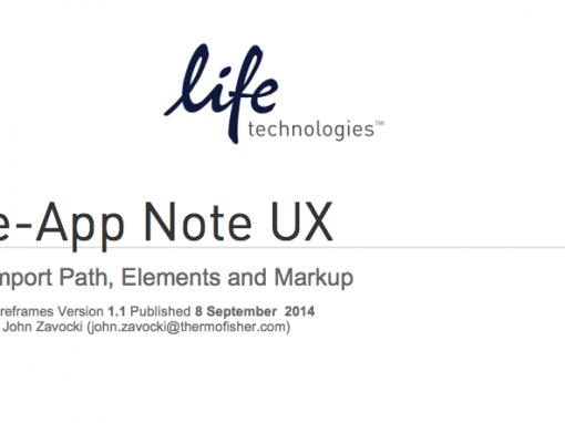 eApp Note Wireframes